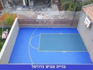 בניית מגרש כדורסל ביתי