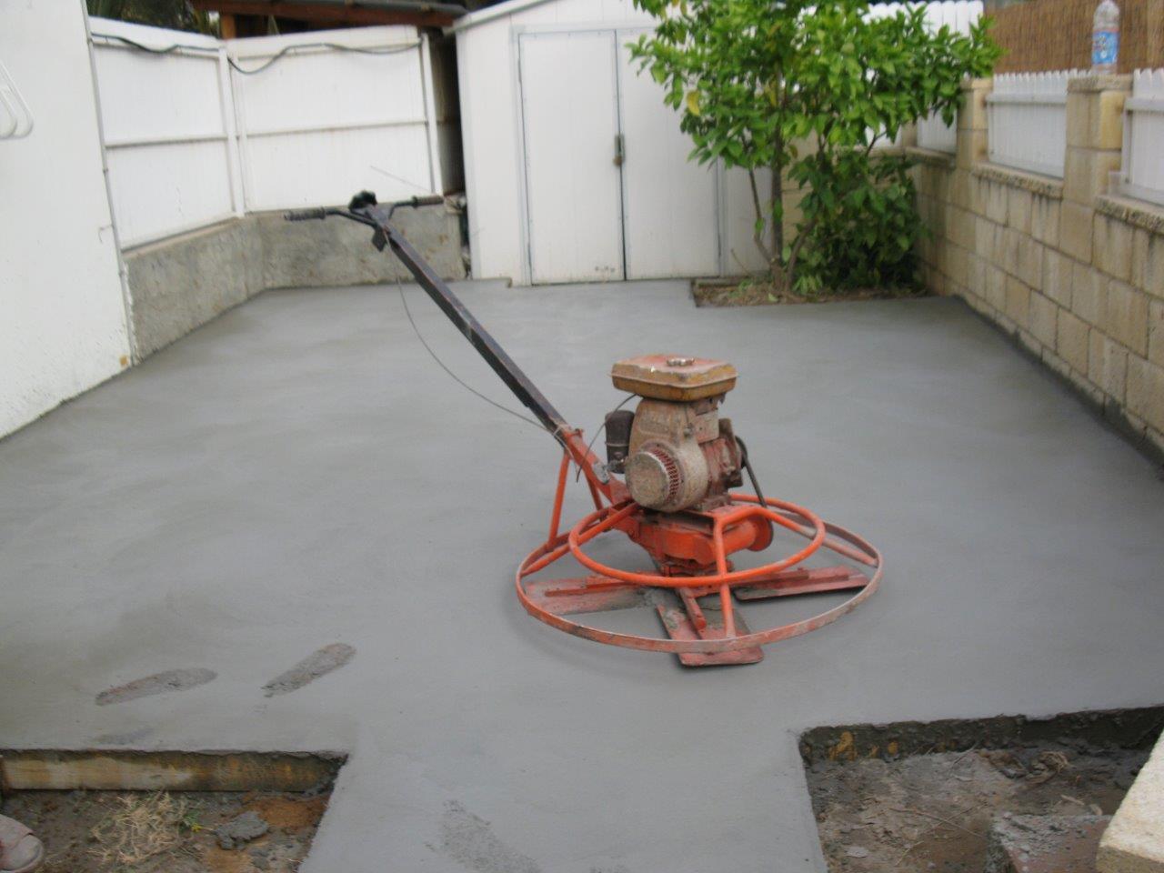 משטח עבודה מבטון מוחלק