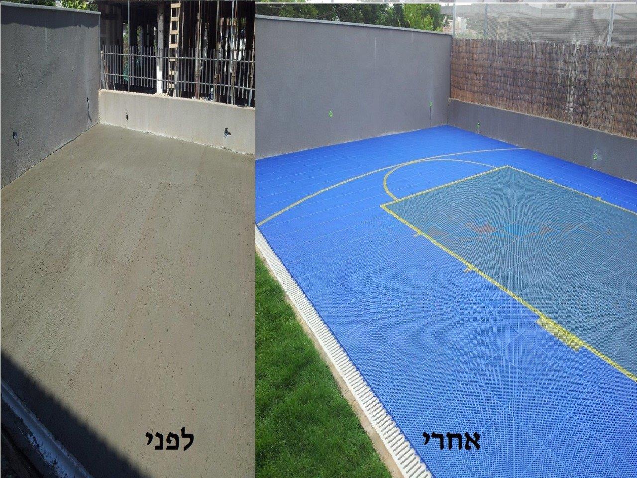יציקת בטון לפני ואחרי