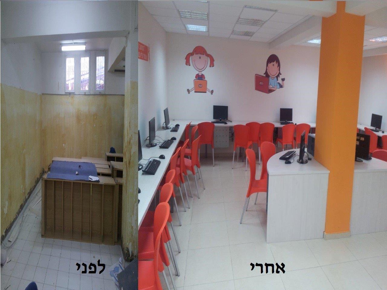 שיפוץ משרד לפני ואחרי