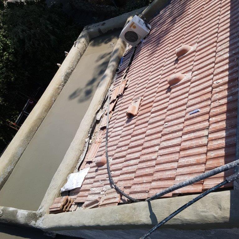 יציקת בטקל לגג